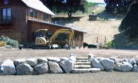 Sonoma County pond and residence hardscaping